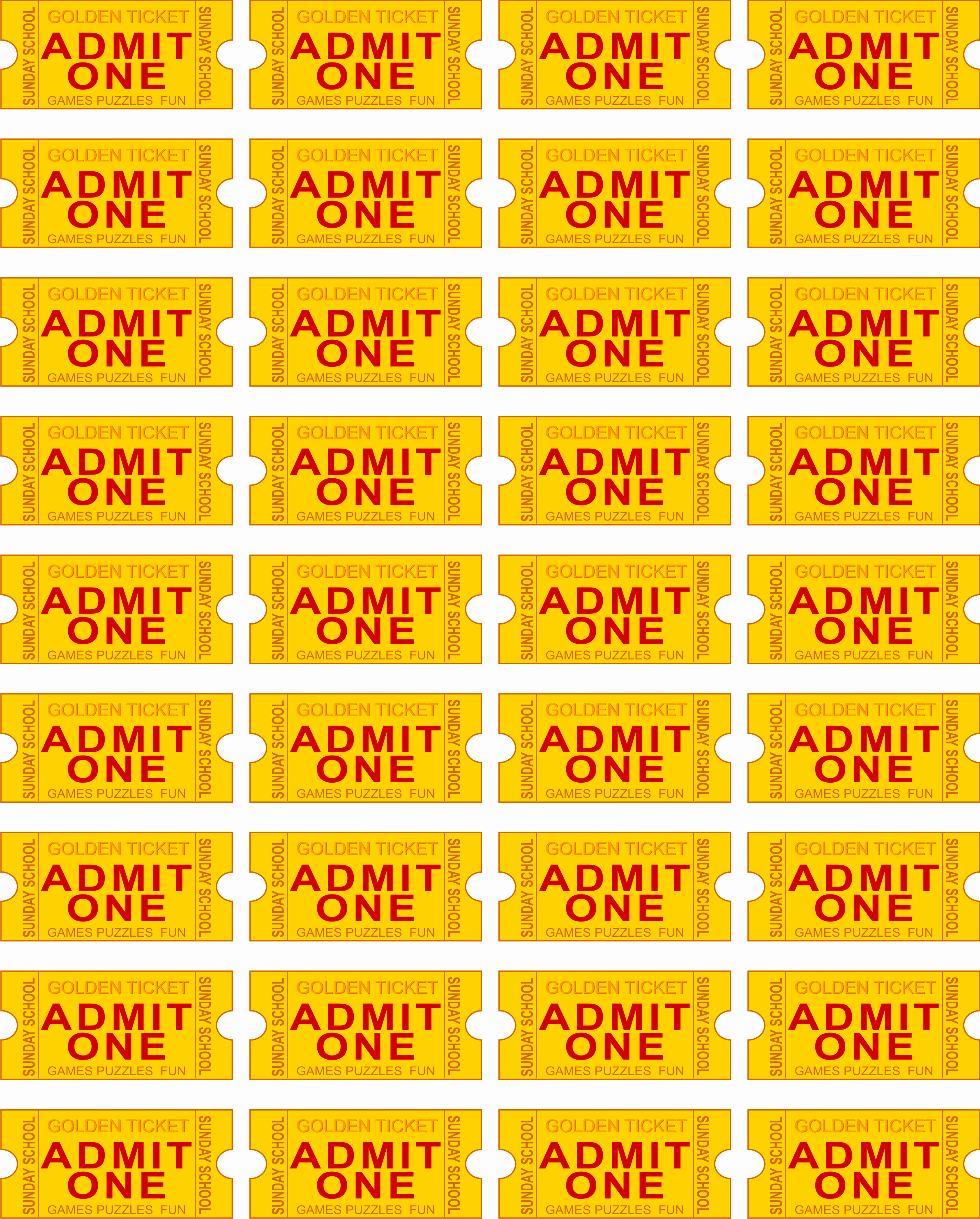 Admit One Ticket Template Unique Free Printable Admit E Ticket Template Clipart Best