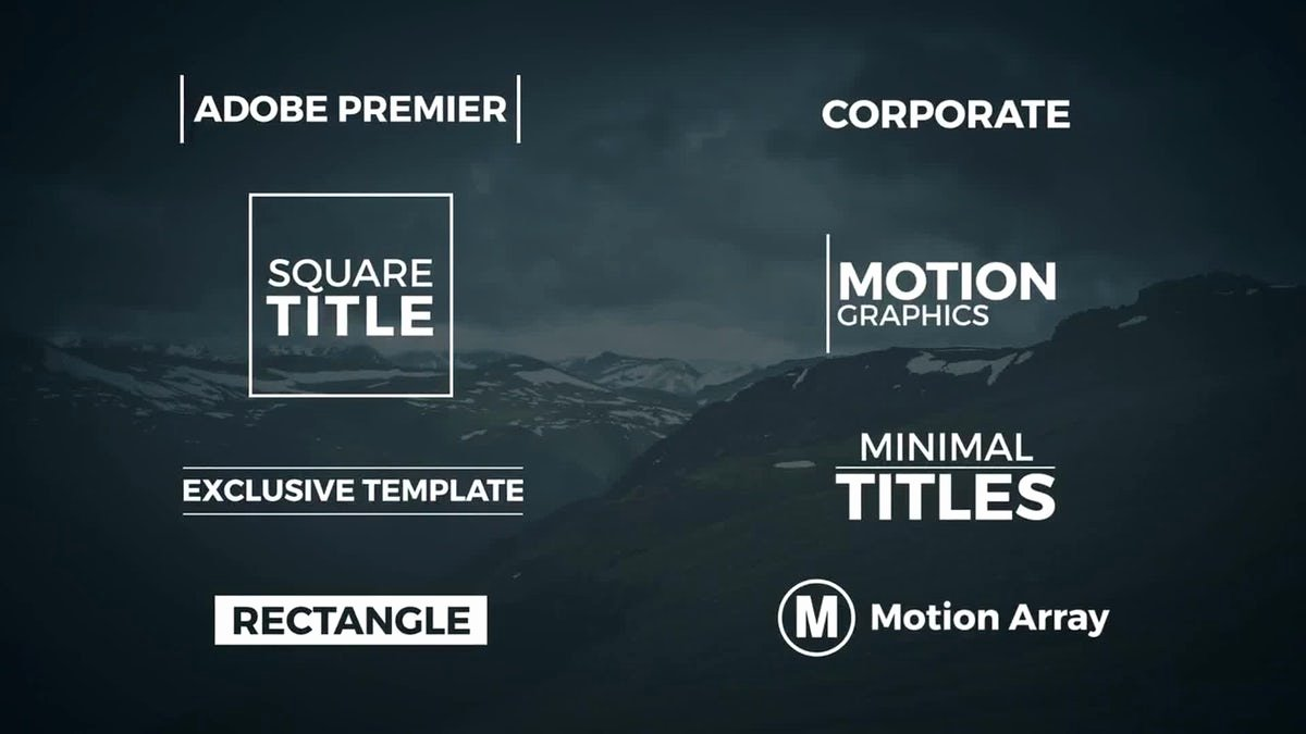 Adobe Premiere Slideshow Template Elegant Adobe Premiere Title Templates