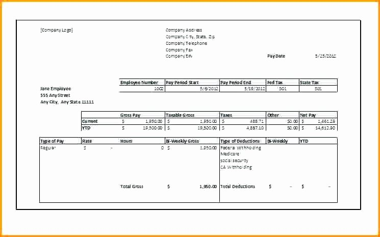 Adp Check Stub Template Beautiful Adp Paycheck Stub Template – Pitikih