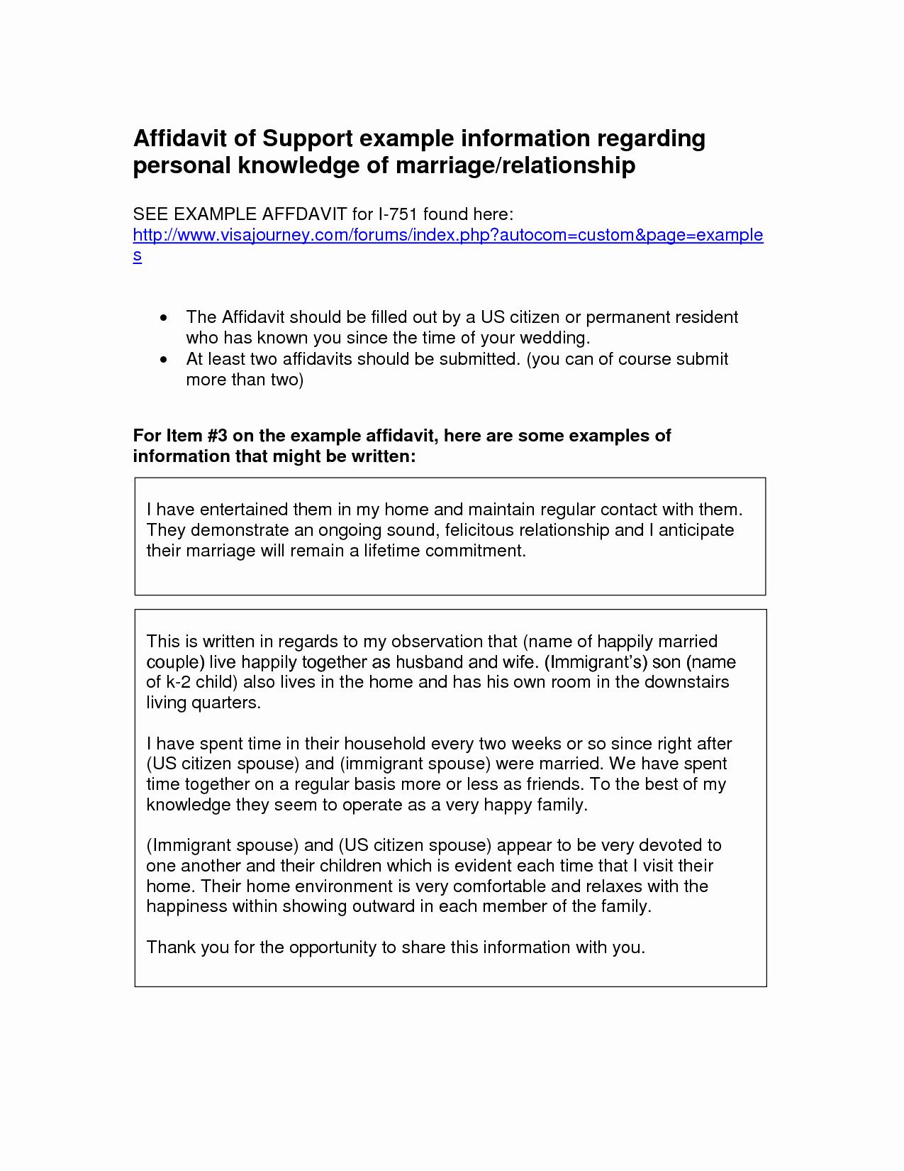 Affidavit Of Support Template Lovely Affidavit Examples Doc by Beunaventuralongjas