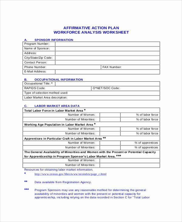 Affirmative Action Plan Template Fresh 46 Sample Action Plans