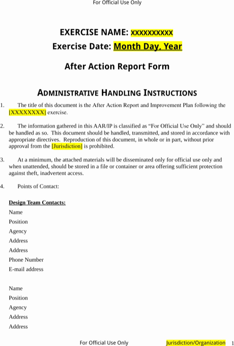 After Action Report Template Awesome Aar after Action Report Template Elegant Army after Action