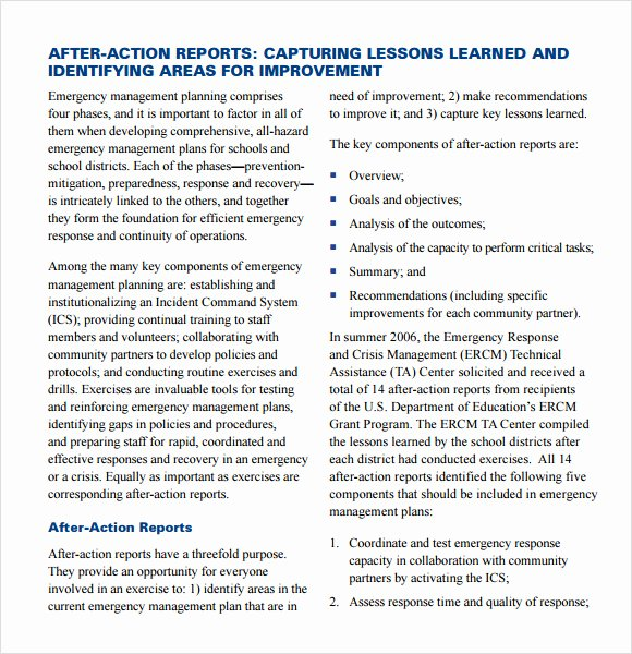 After Action Report Template Best Of Sample after Action Report 11 Documents In Pdf Google