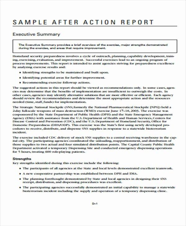 After Action Report Template Unique 8 Action Report Templates Free Word Pdf format