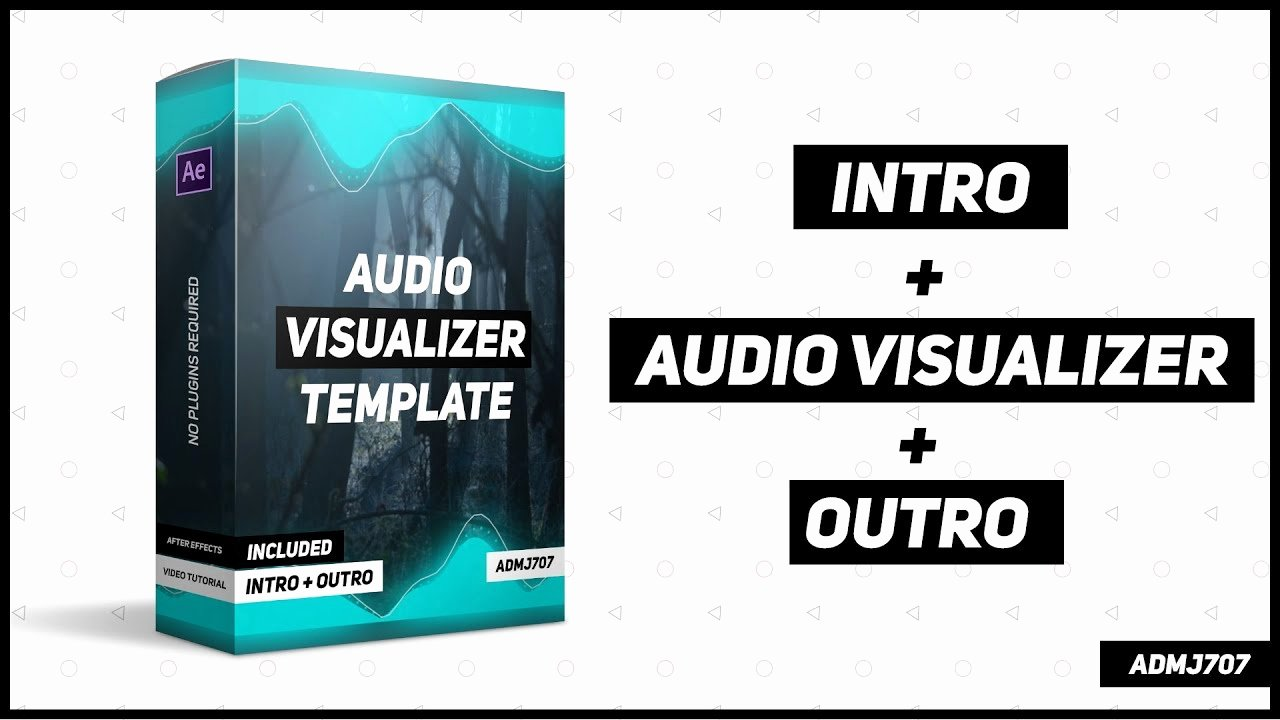 After Effect Outro Template Elegant New Audio Visualizer Template after Effects