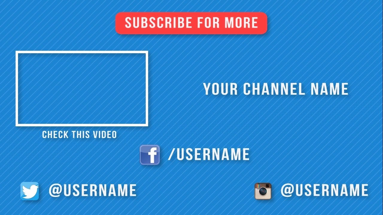 After Effect Outro Template Inspirational New Free 2d Outro Template after Effects 2d Outro Free