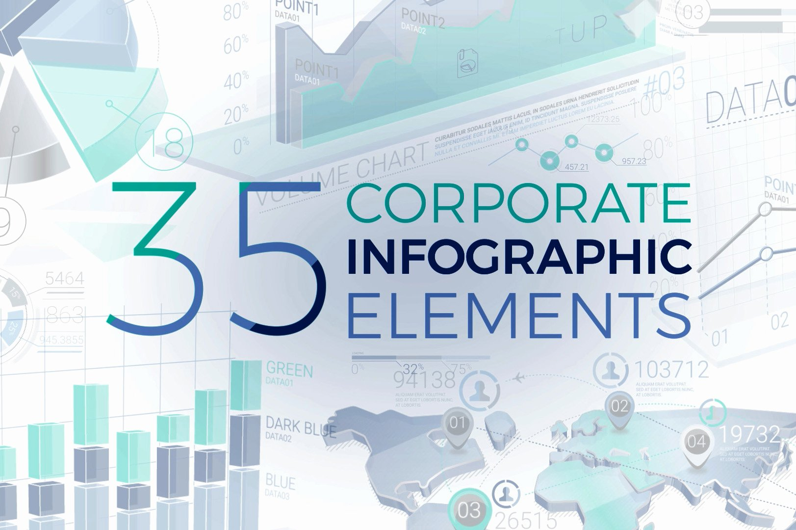 After Effects Infographic Template Elegant Corporate Infographic Elements after Effects Template
