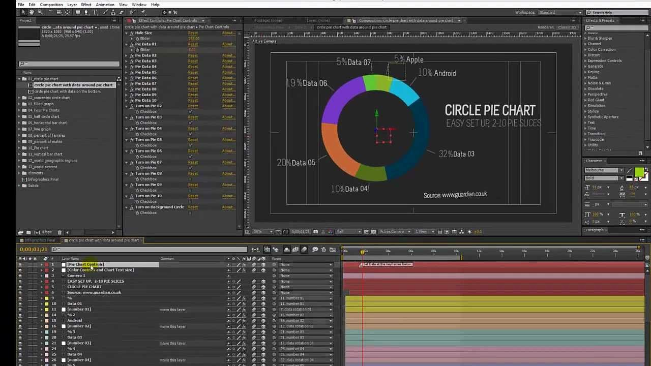 After Effects Infographic Template Lovely Infographics after Effects Template Circle Pie Chart
