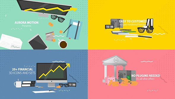 After Effects Infographic Template Unique 20 Financial 3d Icons Infographics after Effects