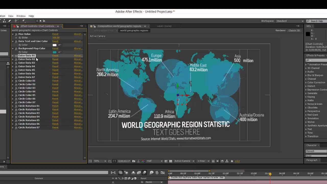 After Effects Infographic Template Unique Infographics after Effects Template World Geographic