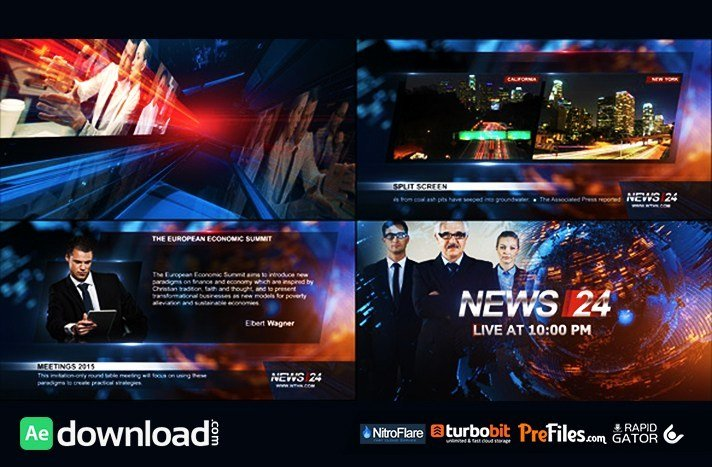 After Effects News Template Beautiful Broadcast Design News 24 Package Videohive Free