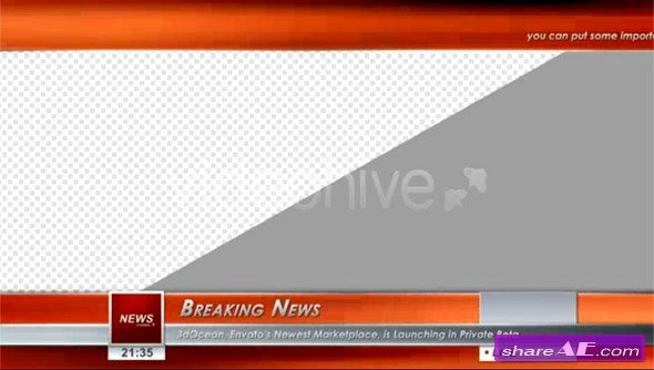 After Effects News Template Best Of Broadcast Hd Graphics Pack after Effects Project