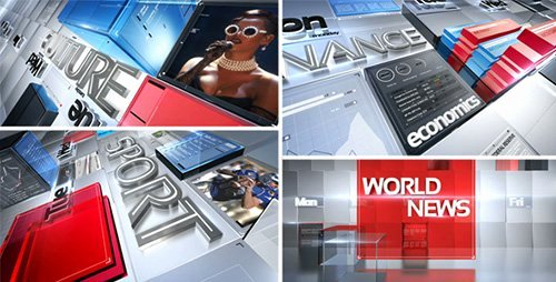 After Effects News Template Best Of Broadcast News Pack
