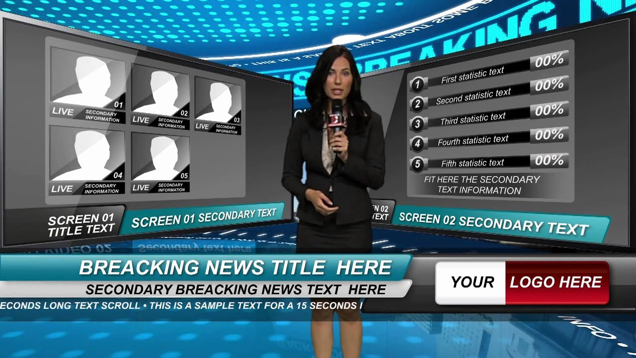 After Effects News Template Elegant after Effects News Studio Template