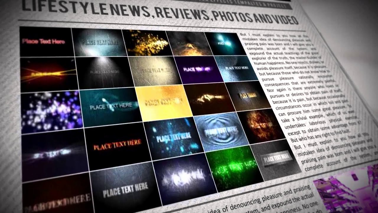 After Effects News Template Fresh Newspaper Trailer after Effects Template & Project