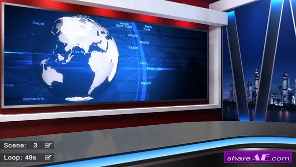 After Effects News Template Lovely News Studio 58 Motion Graphic Videohive Free after