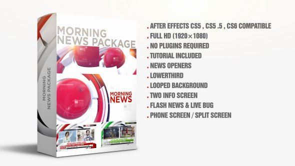 After Effects News Template Unique Morning News Package News after Effects Templates