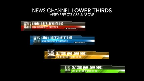 After Effects News Template Unique News Channel Lower Thirds after Effects Template