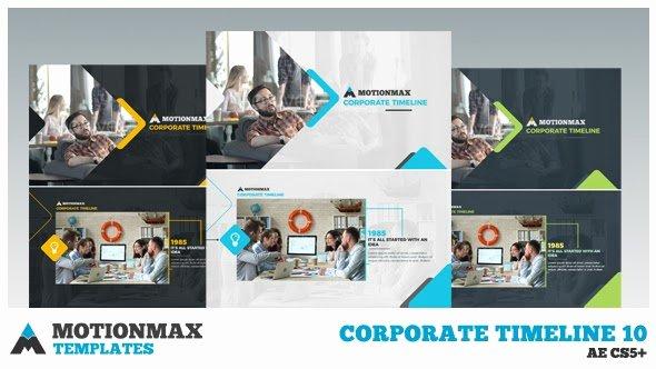 After Effects Timeline Template Elegant Corporate Timeline 10 after Effects Template