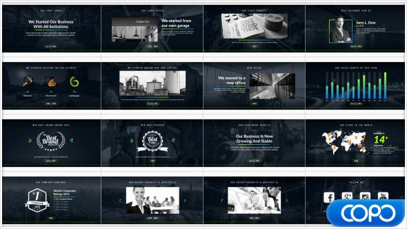 After Effects Timeline Template Unique Pany Timeline Corporate after Effects Templates