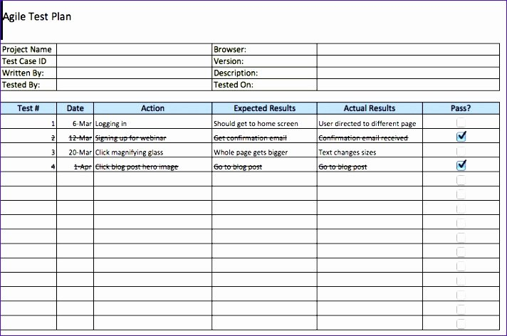 Agile Test Plan Template Awesome 5 Test Cases Template Excel Exceltemplates Exceltemplates