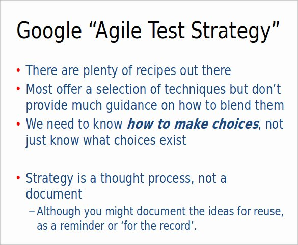 Agile Test Plan Template Fresh Test Strategy Template – 11 Word Pdf Ppt Documents