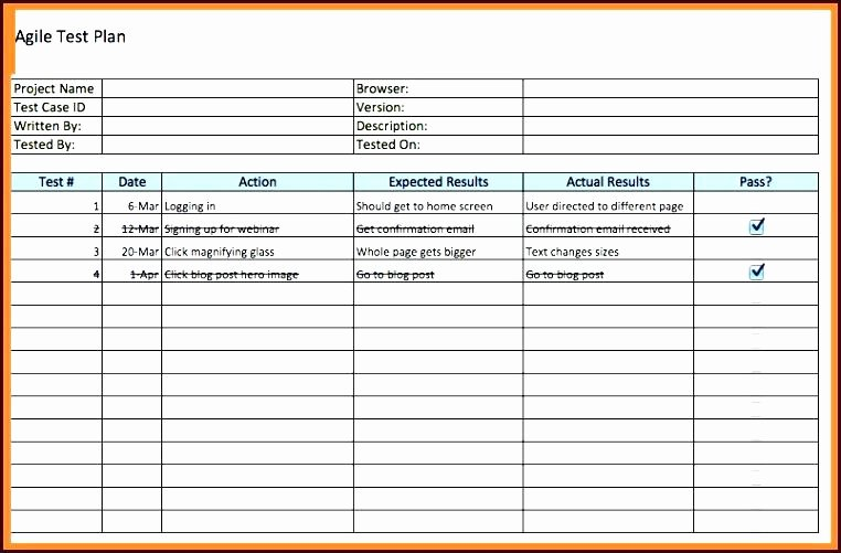 Agile Test Plan Template Lovely Agile Test Case Template Safe Agile User Story Template