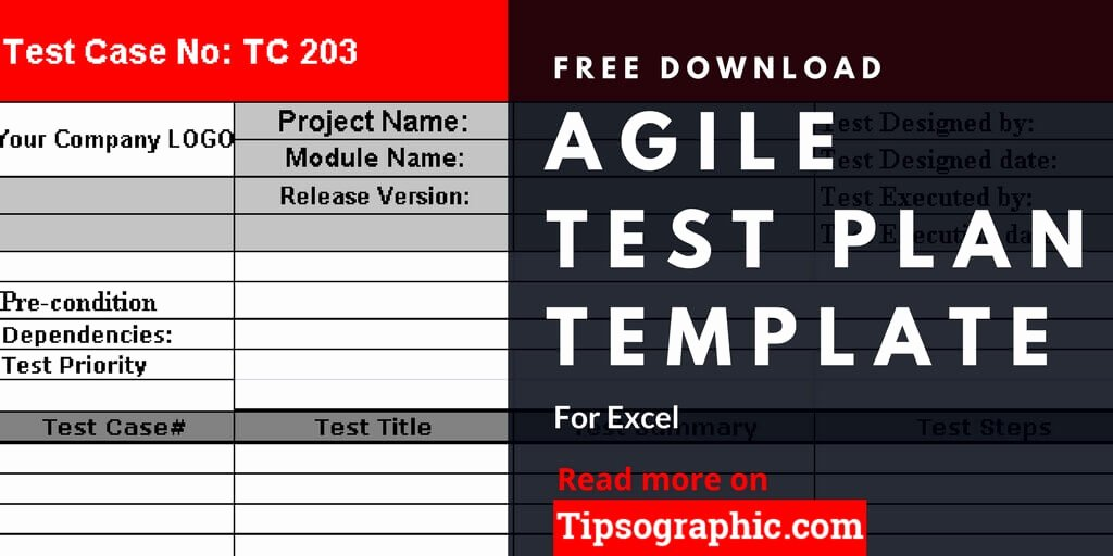 Agile Test Strategy Template Beautiful Agile Test Plan Template for Excel Free Download