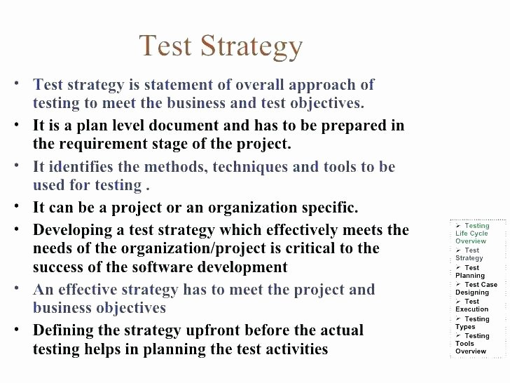Agile Test Strategy Template Best Of Agile Use Case Template Sample Test Strategy Document