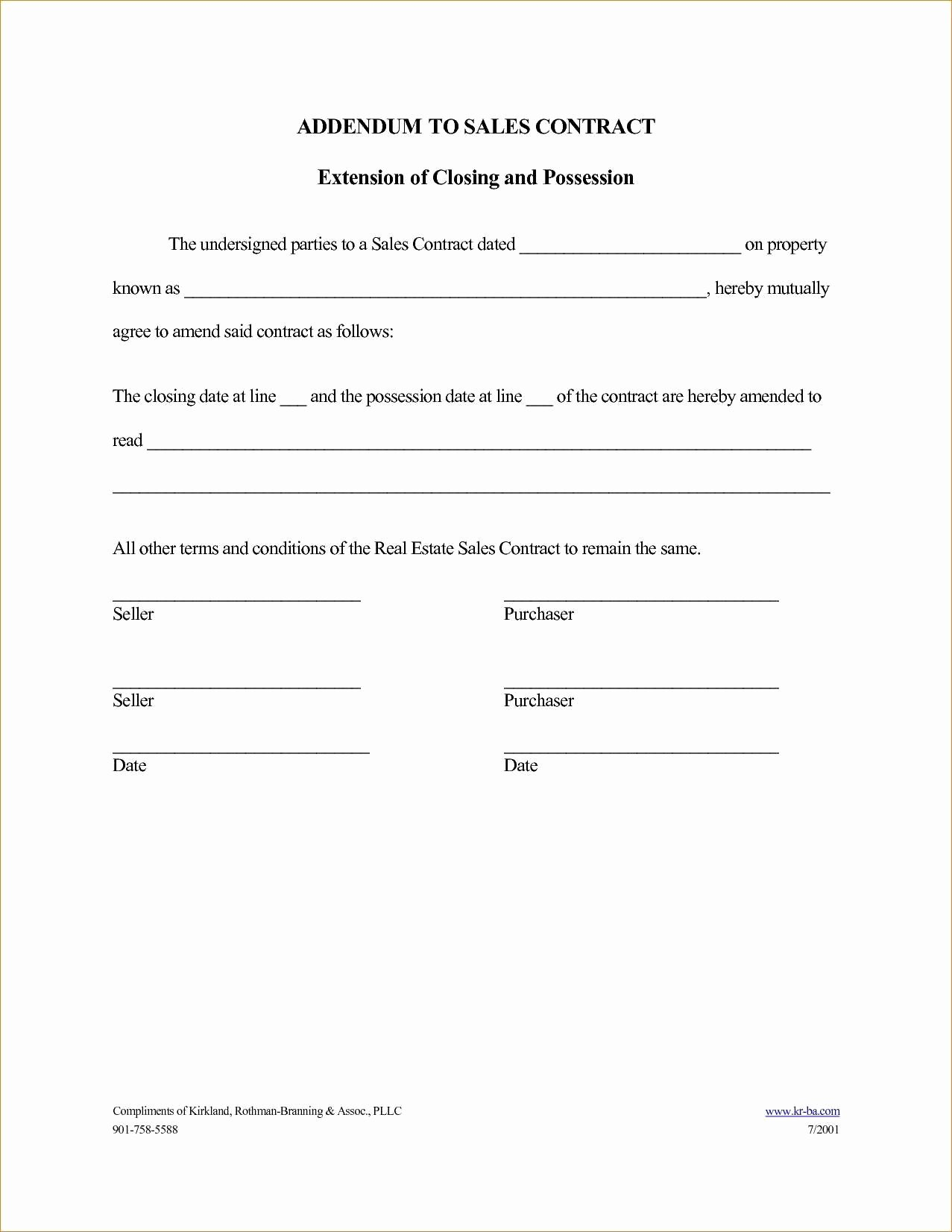 Amendment to Contract Template Lovely Amendment to Purchase Agreement Simple Contract Addendum