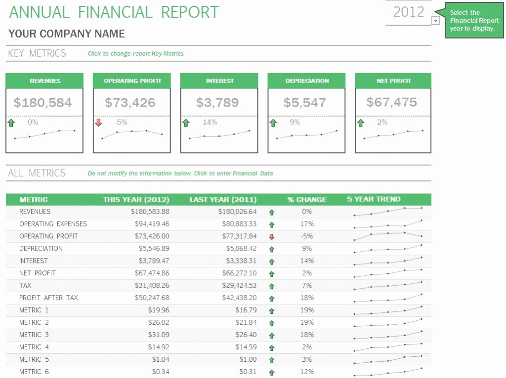Annual Financial Report Template Fresh Annual Financial Report