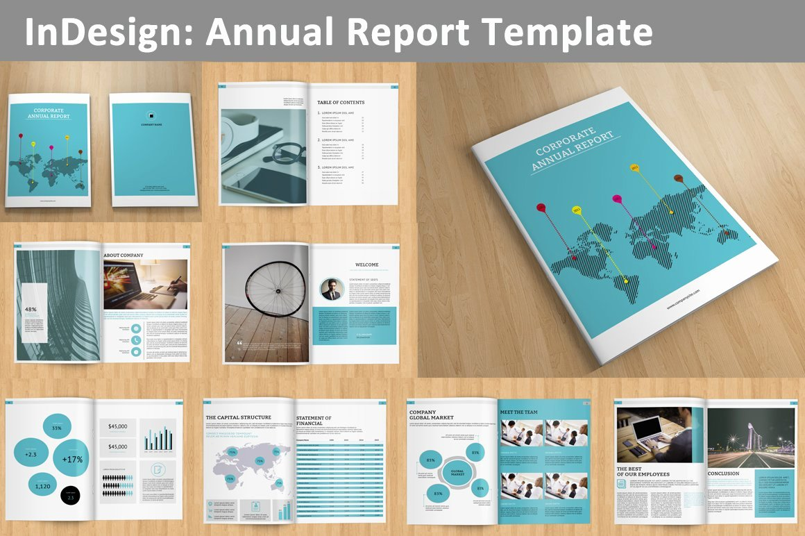 Annual Financial Report Template Fresh Annual Report V129 Brochure Templates Creative Market