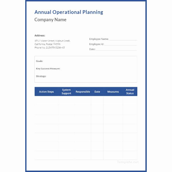 Annual Operating Plan Template Best Of 20 Operational Plan Templates Doc Pdf