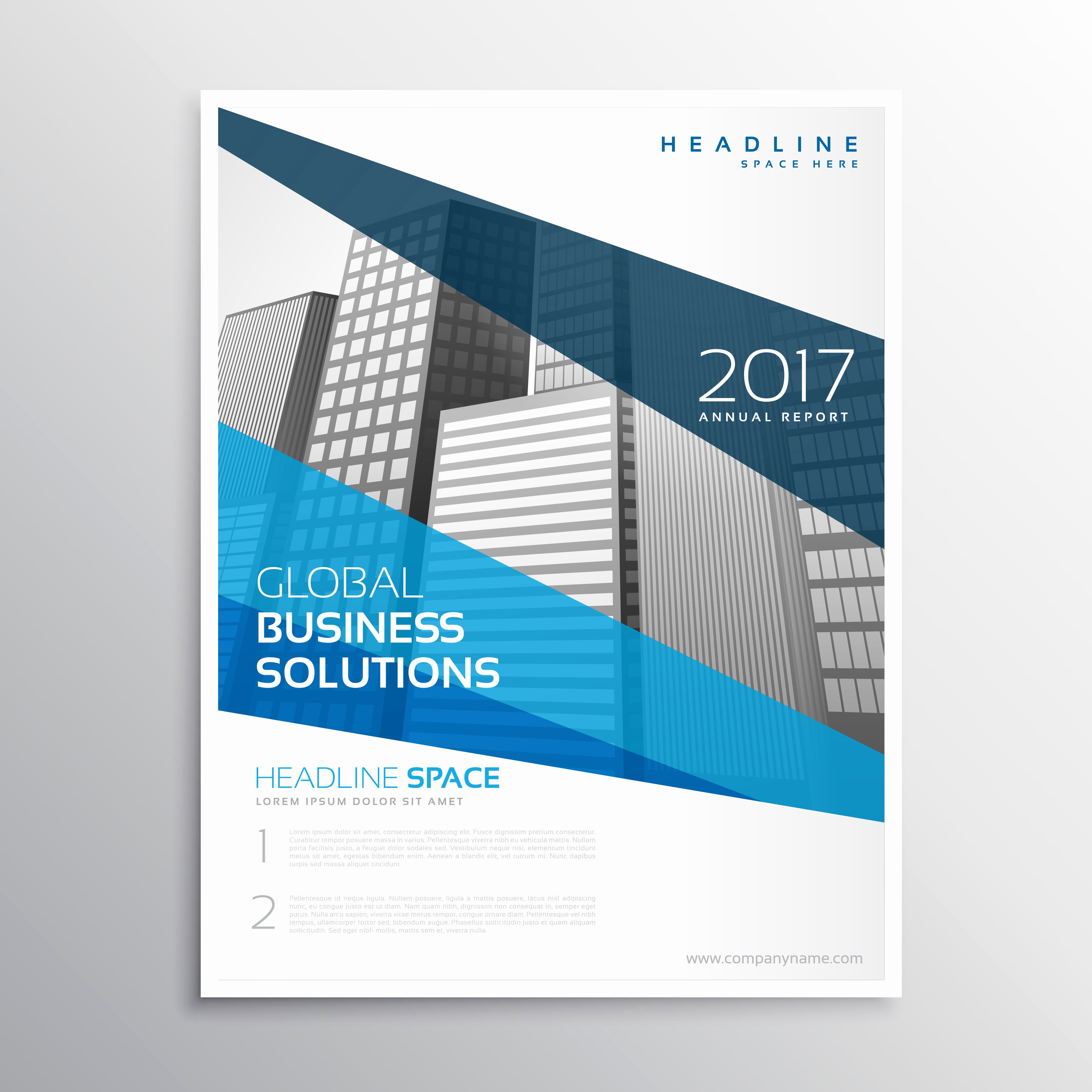 Annual Report Design Template Beautiful Clean Geometric Blue Brochure Template Design for Annual