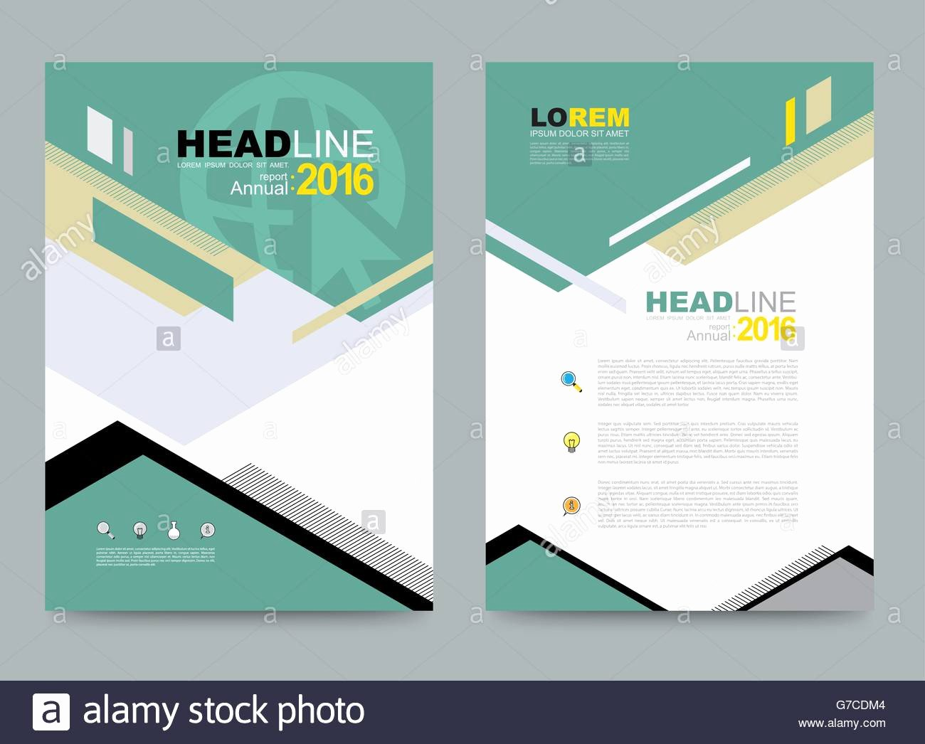 Annual Report Design Template Beautiful Cover Template Design for Business Annual Report Flyer
