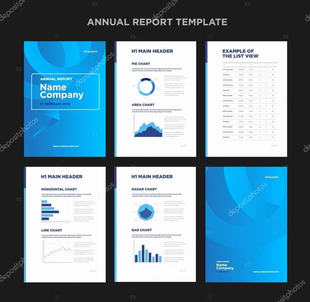 Annual Report Design Template Elegant Modern Annual Report Template with Cover Design and