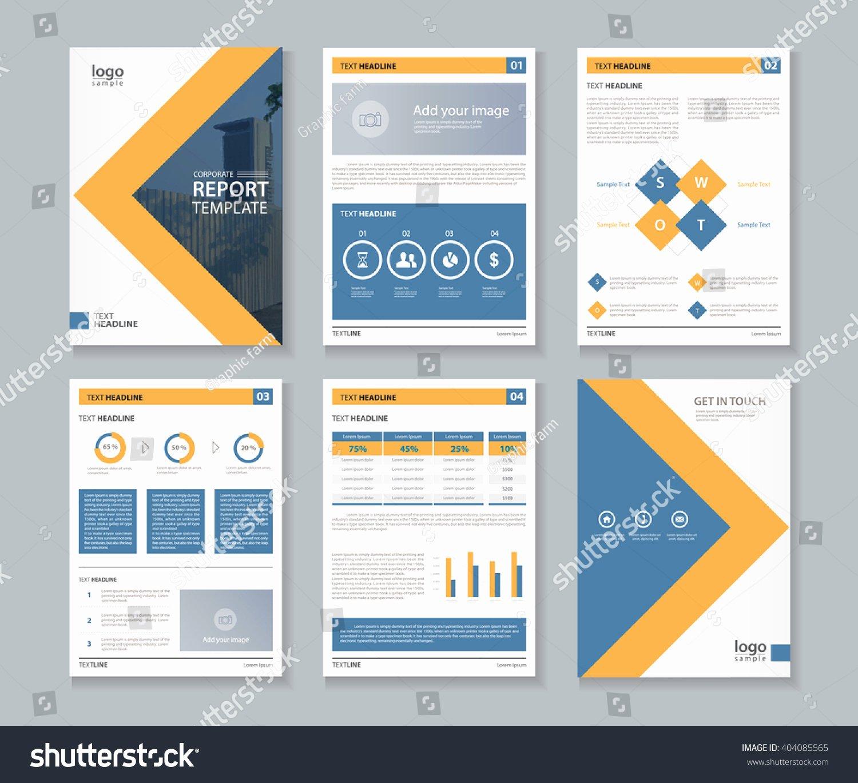 Annual Report Design Template New Pany Profile Annual Report Brochure Fl Stock Vector