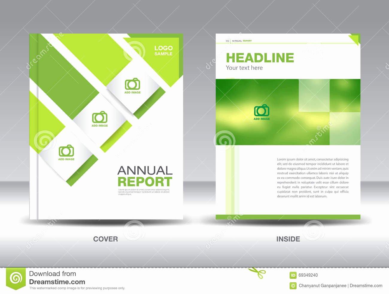 Annual Report Design Template Unique Green Annual Report Layout Template Brochure Flyer Green