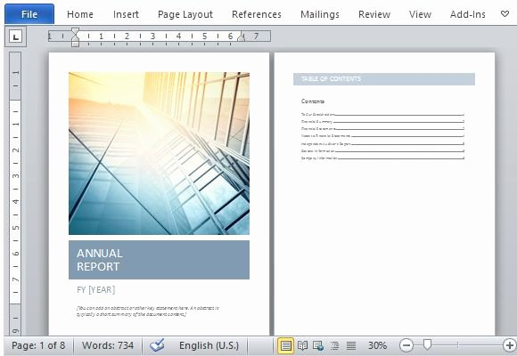Annual Report Template Word Awesome Annual Report Template Word Beautiful Streamlined and
