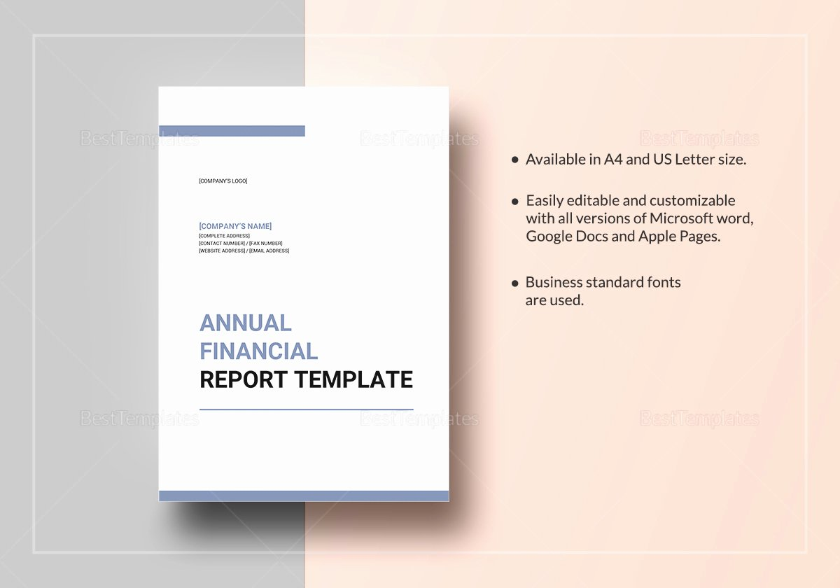 Annual Report Template Word New Annual Financial Report Template In Word Google Docs