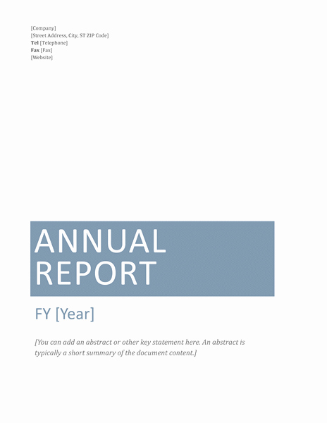 Annual Report Template Word Unique Annual Financial Report Template Microsoft Word Templates
