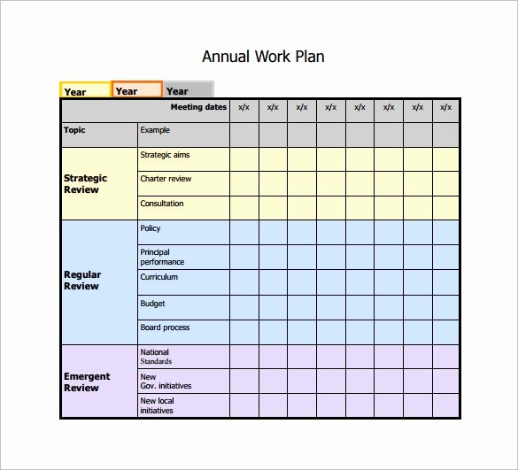 Annual Work Plan Template Elegant Work Plan Template 15 Free Word Pdf Documents Download