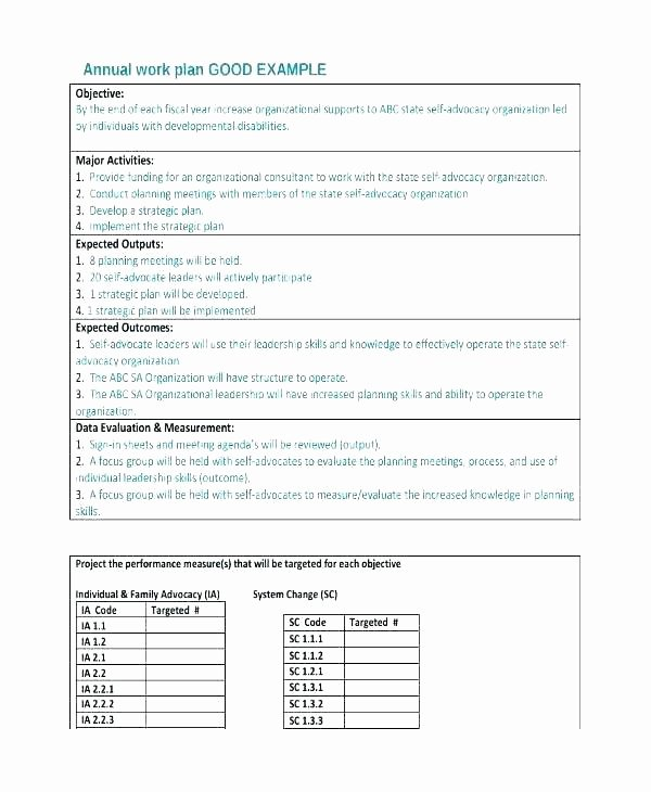 Annual Work Plan Template Unique Simple Work Plan Template Word Monthly Free Templates