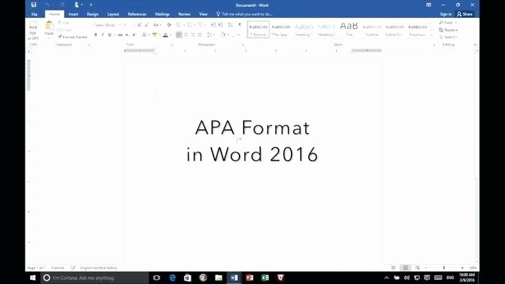 Apa format Template Download Awesome Apa Template for Word 2016 Microsoft Templates – Kennyyoung