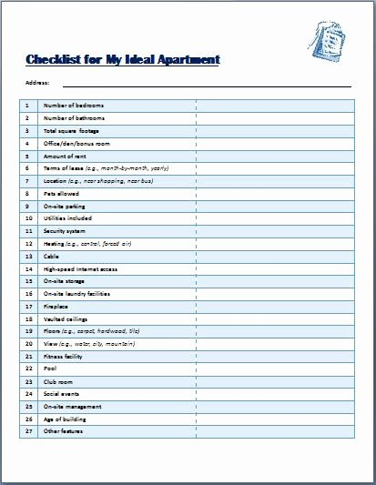 Apartment Maintenance Checklist Template Luxury the Template Has All Details that One May Need at A Time