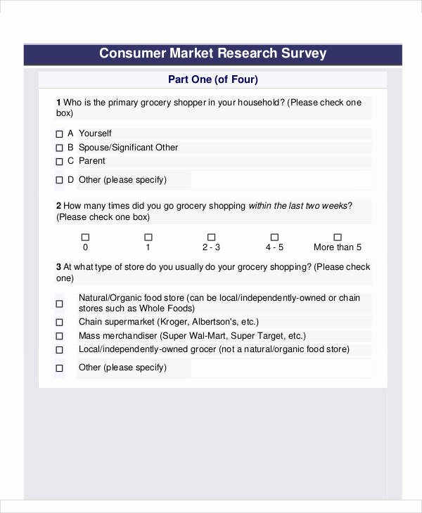Apartment Market Survey Template Awesome 60 Sample Survey forms