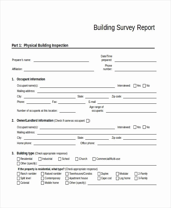 Apartment Market Survey Template Elegant 32 Survey Template Free Sample Example format
