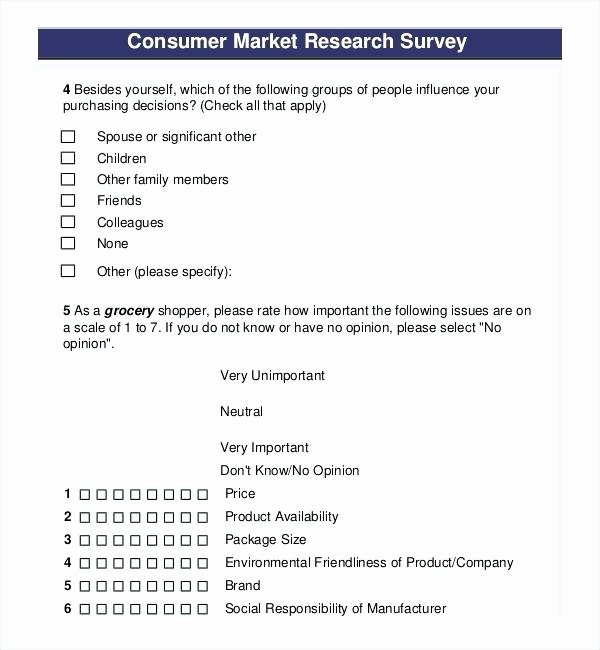 Apartment Market Survey Template Lovely Consumer Product Market Research Survey Template Questions