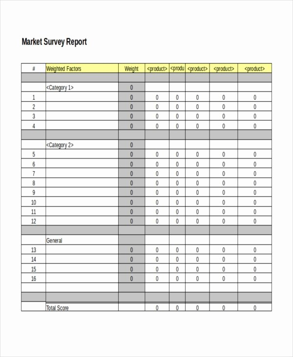 Apartment Market Survey Template Luxury 32 Survey Template Free Sample Example format