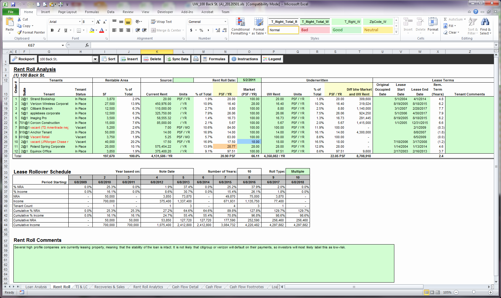 Apartment Rent Roll Template Beautiful Rent Roll Spreadsheet